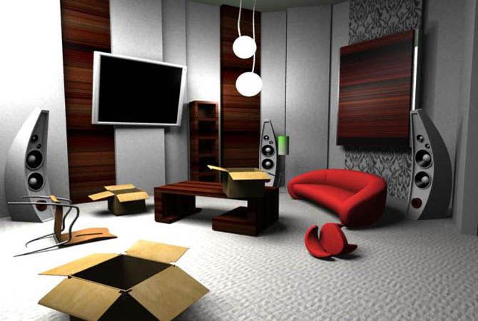 дизайн гостинная комната спальня