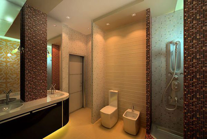 дизайн потолкив в ваной комнате