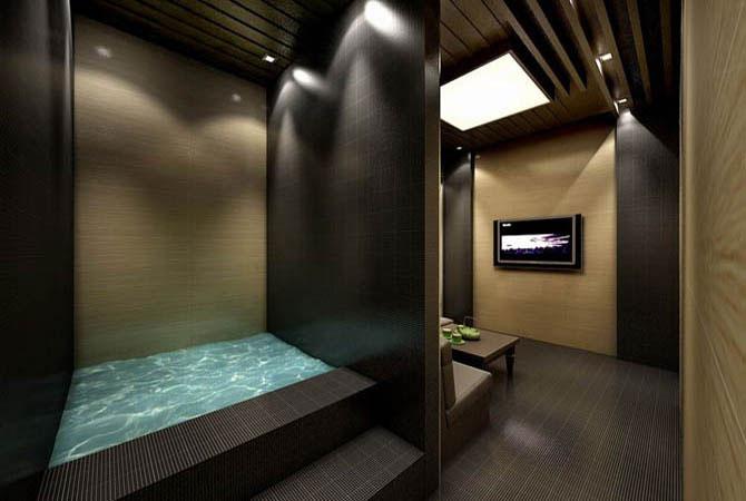 фото отделка ванны в деревянном доме