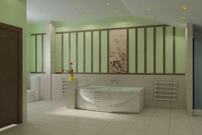 образец дизайна ванной комнаты