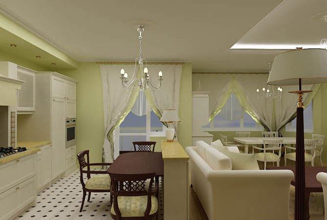 пример дизайна квартир 60 квм