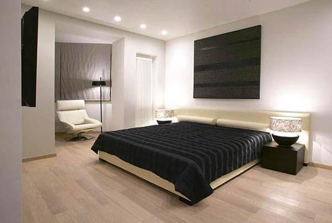 интерьер спальной комнаты оформление стен