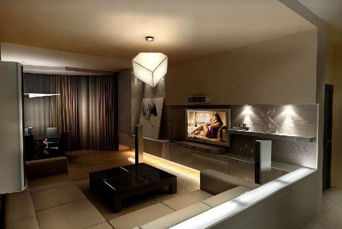 дизайн гостинная в малогабаритной квартире фото