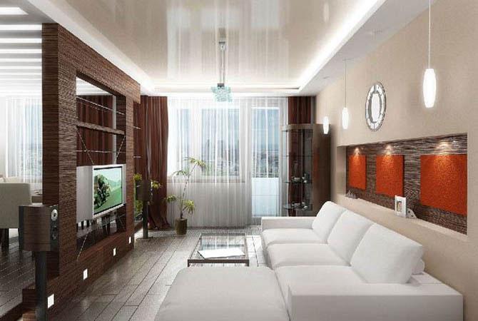 дизайн объединенной комнаты с лоджией балконом