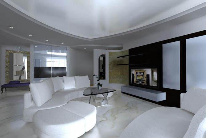 дизайн проект угловой 2 комнатной квартиры