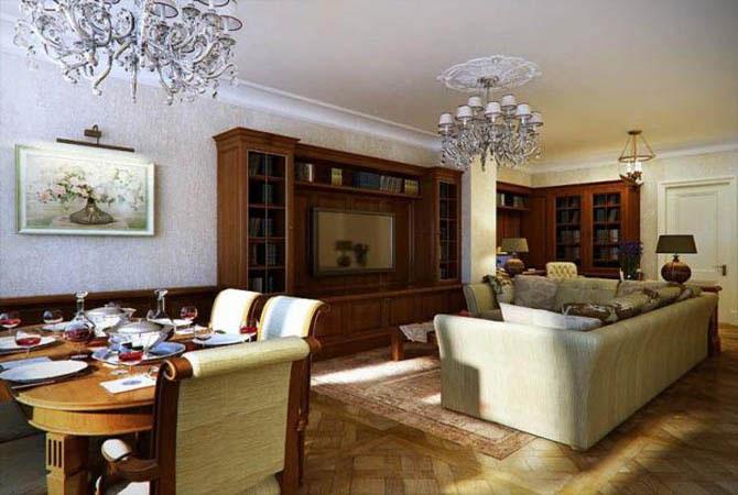 дизайн комнаты в сталинской квартире