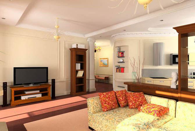 дизайн интерьера квартир цветовые решения