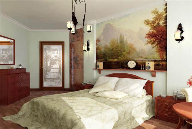 декорация фресками интерьера квартиры