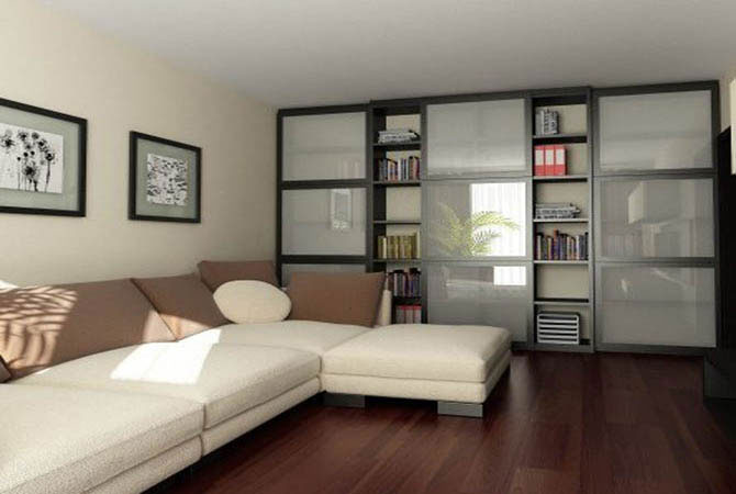 дизайн гостинной спальни малогобаритной квартиры