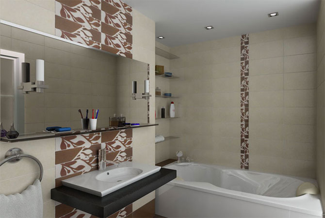 нестандартный дизайн ванной комнаты