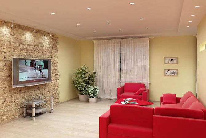 интерьер с домашним бамбуком фото