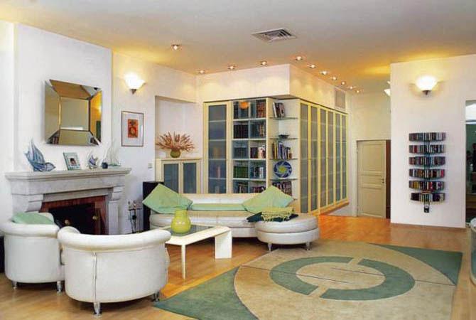 дизайн студия квартиры потолки