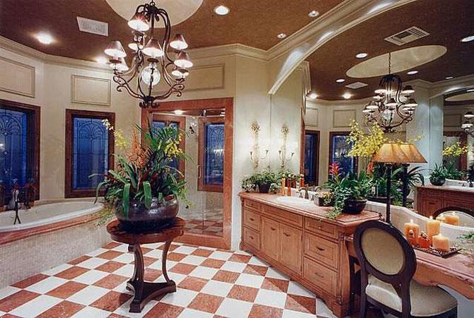 фото интерьеров отделки плиткой ванных комнат