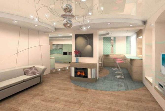 пример дизайн интерьера двухкомнатной квартиры