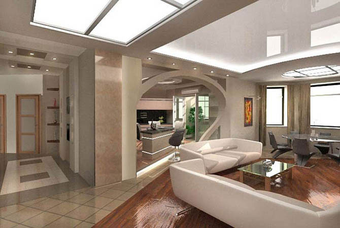 вариант дизайн однокомнатной квартиры