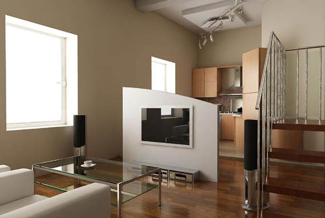 интерьер квартир с искуственным камнем