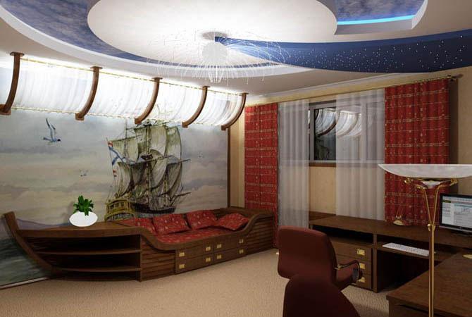 дизайн интерьеров бильярдных комнат