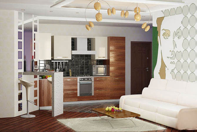дизайн квартиры в стиле авангард