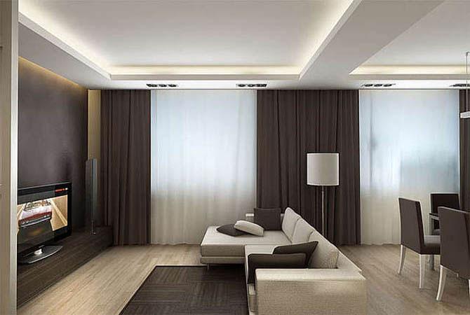 дизайн одно- комнатной квартиры 40 квм