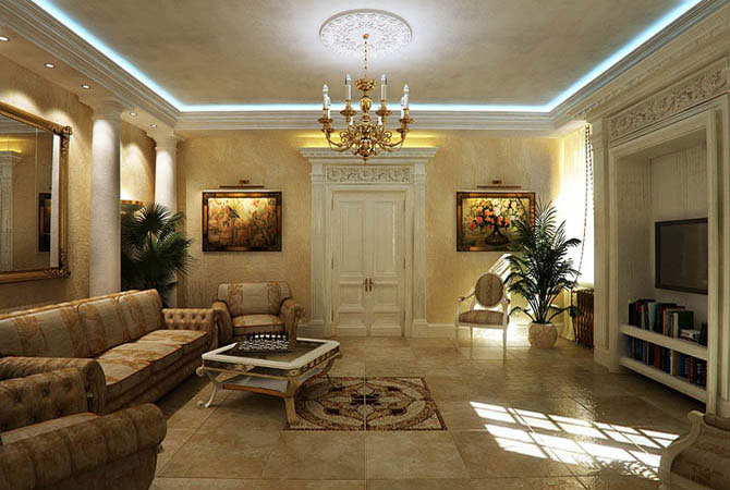 современный интерьер квартиры с картинами