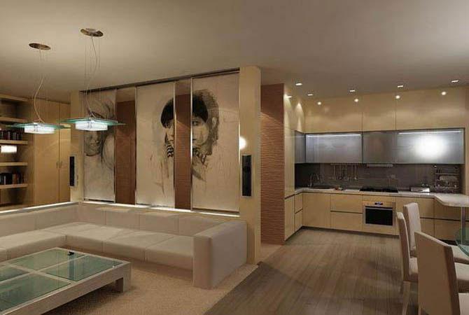 дизайн квартиры детская кухня зал ванная комната