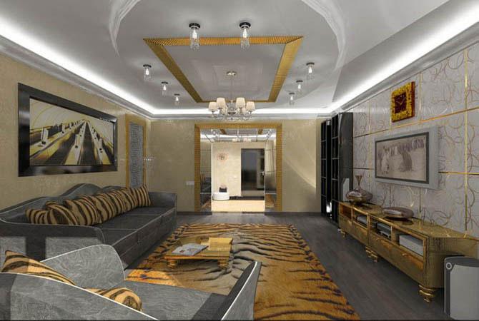 русские фольклерные мотивы хохломы в интерьере квартир