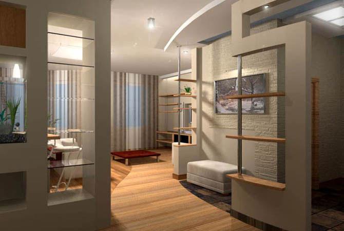 дизайн однокомнатной квартиры с картинками
